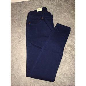 Mid-rise denim jeans